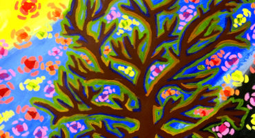 Der Baum, Malen mit Acrylfarbe